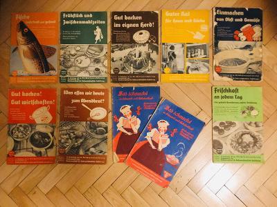 Německé brožury pro kuchařky z 30. let