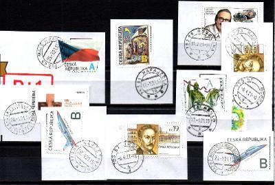 Sestava vybraných ručních razítek na známkách ČR, PSČ 7xx xx (r176)