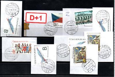 Sestava vybraných ručních razítek na známkách ČR, PSČ 7xx xx (r178)
