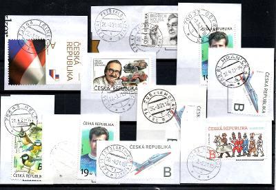 Sestava vybraných ručních razítek na známkách ČR, PSČ 7xx xx (r186)