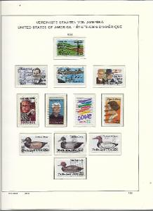 8 albových listů známek  USA - 1985