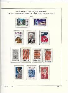 8 albových listů známek  USA - 1986