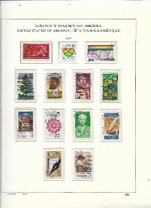 8 albových listů známek  USA - 1987
