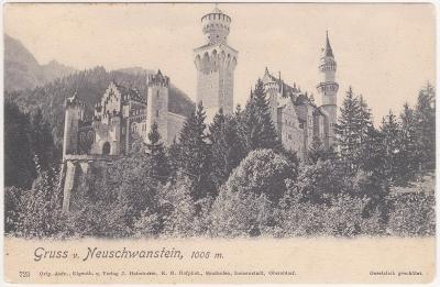Německo, Bavorsko, Zámek Neuschwanstein 1905
