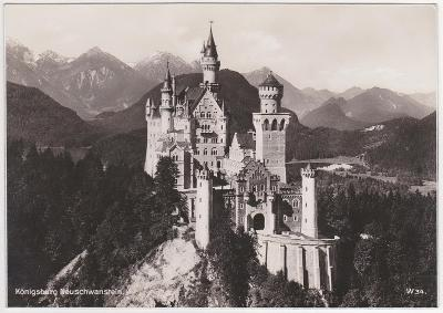 Německo, Bavorsko, Alpy, Zámek Neuschwanstein 1936