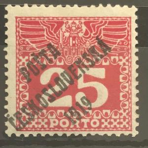 ČSRI -PČ 1919 -rakouské doplatní - Velká číslice mer.69- 25h-  Zk.