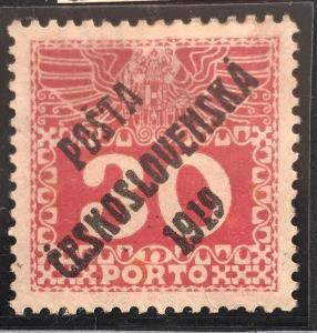 ČSRI -PČ 1919 - Velká číslice mer.70- vzácná 30h s atestem!