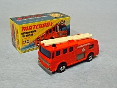 MATCHBOX - MERRYWEATHER FIRE ENGINE - LESNEY ENGLAND