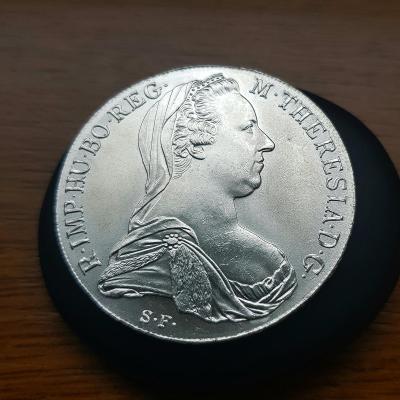 Stříbrný Tolar-1780-SF-Marie Terezie Proof/Proof -sbírkovy stav