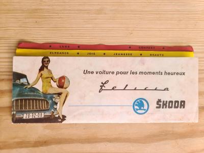 Starý reklamní prospekt Škoda Felicia do Francie