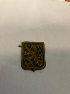 Originál československý čepicový odznak První republika