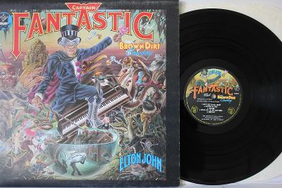 Elton John Captain Fantastic LP 1975 vinyl UK 1.vydani Translucent NM
