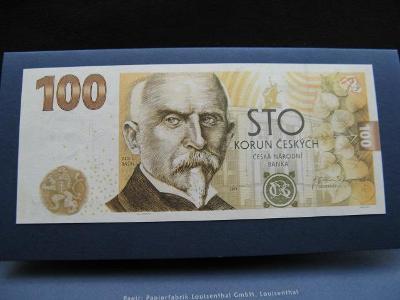 Vzácná serie RC04,Pamětní bankovka 100 Koruna Rašín.UNC stav.