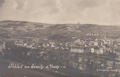 Semily - pohled na město z Varty