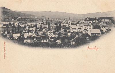 Semily - pohled na město, dlouhá adresa