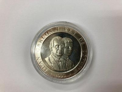 Mince, medaile stříbrná 2000 PESETAS OLYMPIADA