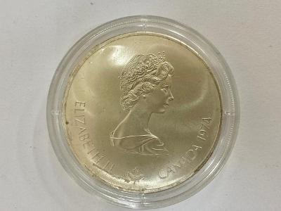 MINCE, MEDAILE STŘÍBRNÁ 5 DOLLARS - ELIZABETH II. 1973