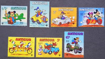 Antigua Disney dětské, 7 ks známek, krásná série