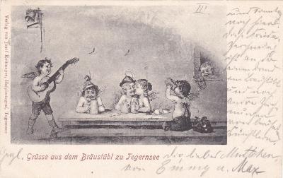 Německo, Bavorsko, Tegernsee (hostinec) - prošlá 1903