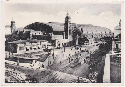 Německo, Hamburg (doprava, nádraží) 1938