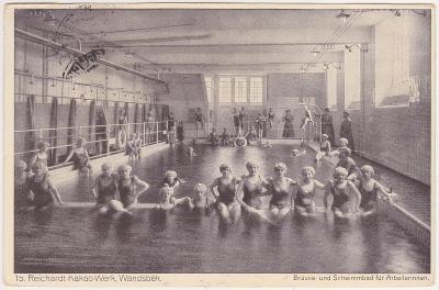 Německo, Hamburg, Wandsbek (továrna, plovárna pro ženy) - prošlá 1938