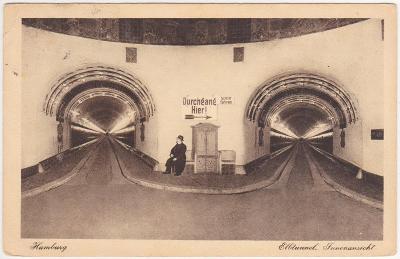 Německo, Hamburg (tunely) - prošlá 1920