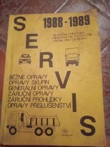 Kniha Servis 1988 - 1989 Avia Tatra LIAZ Ifa