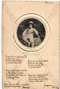 dítě koláž plastická karta DA