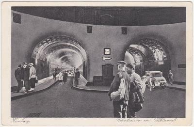 Německo, Hamburg (tunely, doprava) 1922