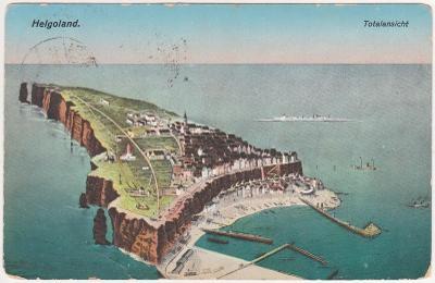 Německo, Helgoland, Severní moře - prošlá 1919