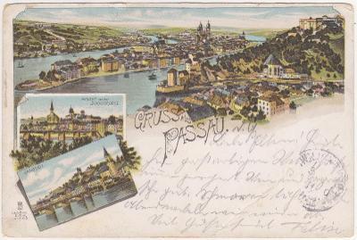 Německo, Pasov, Passau, Bavorsko - prošlá 1901