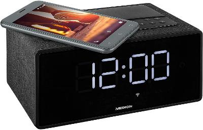 MEDION WiFi, Bluetooth reproduktor, Spotify, bezdrátové nabíjení,budík