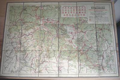 KRKONOŠE - Zimní mapa - Vytiskl Vojenský zeměpisný ústav v Praze
