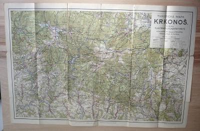 KRKONOŠE - Turistická mapa - Vydal KČT - Jilemnice, Černý Důl,Vrchlabí