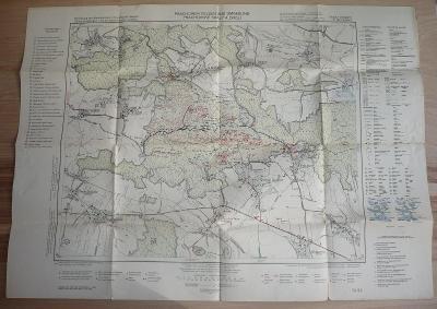 PRACHOVSKÉ SKÁLY a okolí - Turistická mapa z roku 1942 - Český ráj