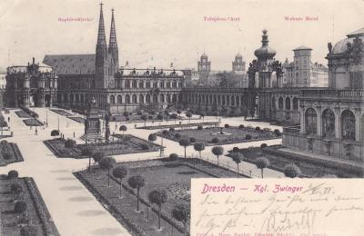 Německo, Drážďany, Dresden - prošlá 1904