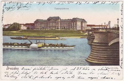 Německo, Drážďany, Dresden (parník) - prošlá 1902