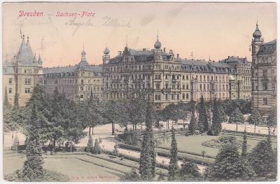 Německo, Drážďany, Dresden - prošlá 1908