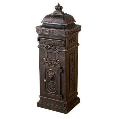 Dekorativní poštovní schránka antik - tmavá m 1278