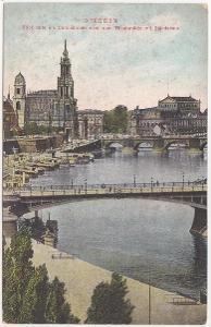 Německo, Drážďany, Dresden - prošlá 1909