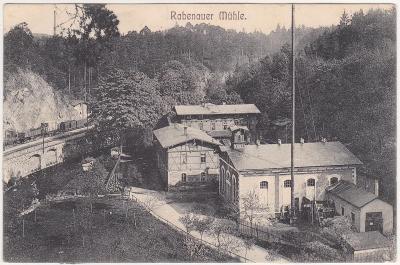 Německo, Saské Švýcarsko, Rabenau, Rabenauer Muhle (hostinec) 1906