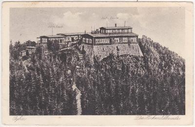 Německo, Hvozd (Lužické hory) Saská a Česká bouda - prošlá 1929