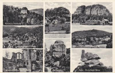 Německo, Žitavské hory, Oybin - prošlá 1939