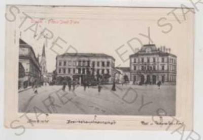 Olomouc (Olmütz), náměstí, plastická karta