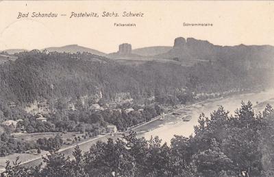 Německo, Saské Švýcarsko, Bad Schandau - prošlá 1932