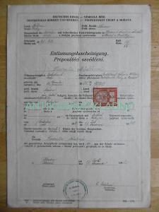 PROPOUŠTĚCÍ OSVĚDČENÍ ZE ŠKOLY, NĚMECKÁ ŘÍŠE, 1942, KLADNO