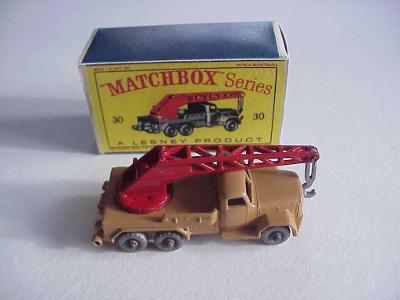 Matchbox RW Nr. 30 MAGRUIZ-DEUTZ 6-WHEEL CRANE hnědočervený + krabička