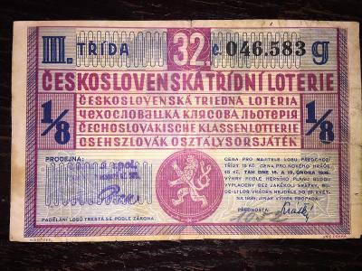 LOS-ČESKOSLOVENSKÁ TŘÍDNÍ LOTERIE-1935