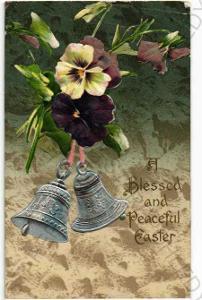 Květiny fialky zvonky plastická karta