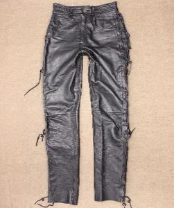 Dámské kožené motorkářské kalhoty na čopra LINIUS vel. XS/34 #5a81